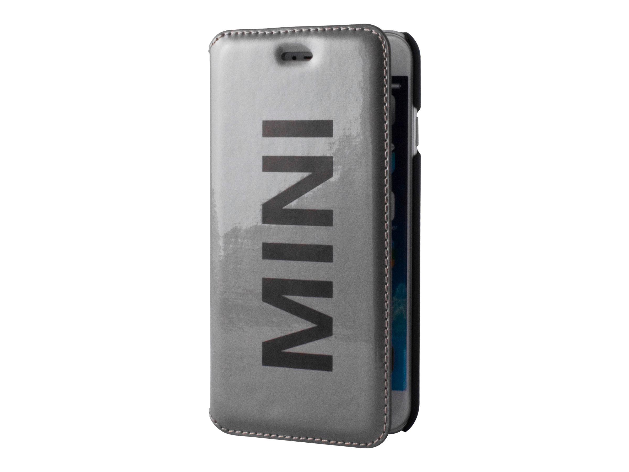 MINI étui Folio - Protection à rabat  pour iPhone 6 Plus, 6s Plus - vinyle argent
