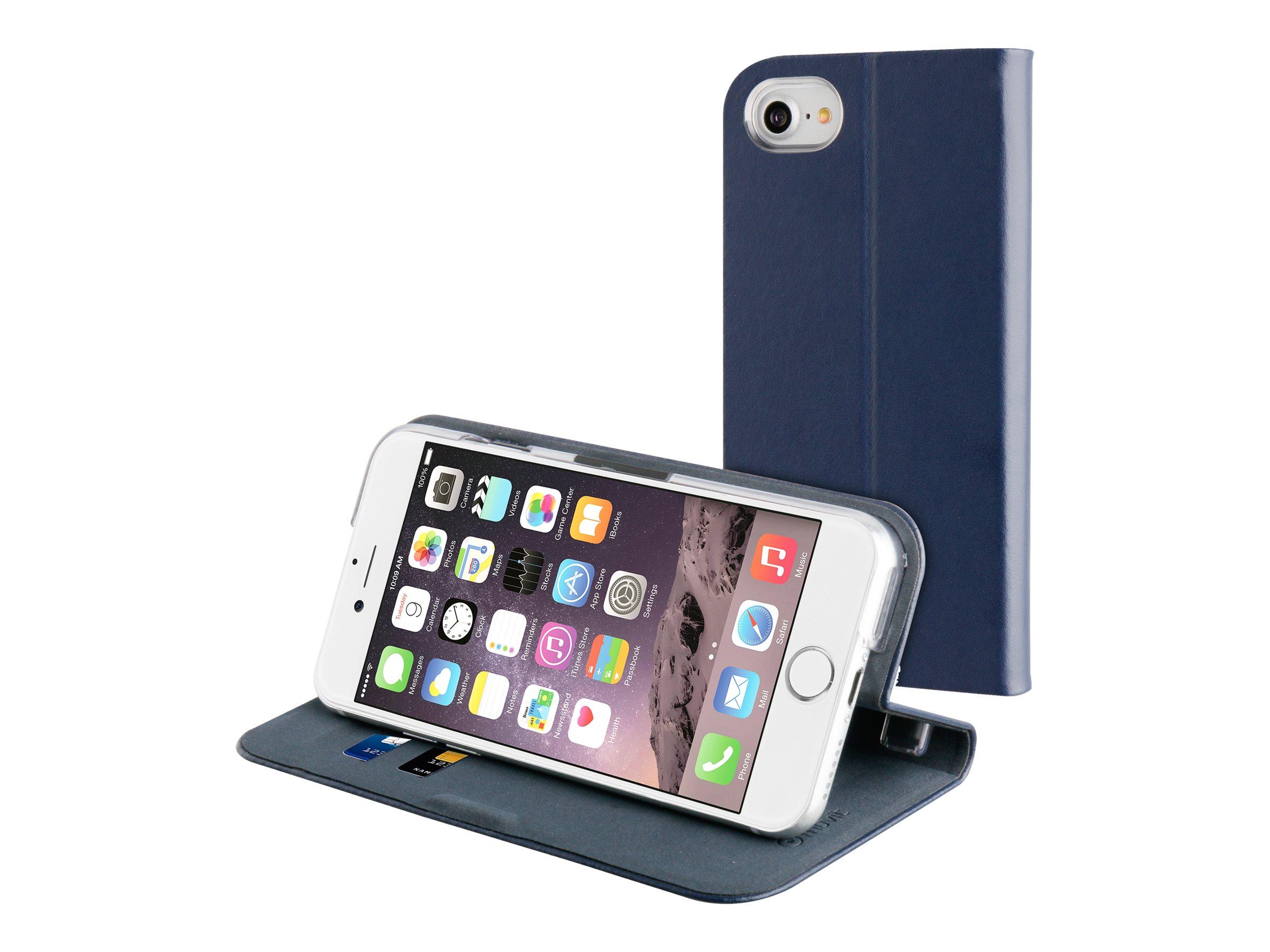 Muvit Folio fit - Protection à rabat pour iPhone 7 - bleu nuit