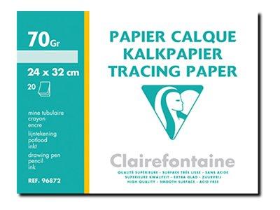 Clairefontaine Fine Arts - Papier- calque - A4 Plus - 20 feuilles