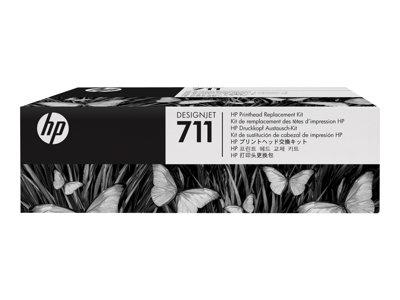 HP 711 - Černá, žlutá, azurová, purpurová - tisková hlava - pro DesignJet T120 ePrinter, T520 ePrinter