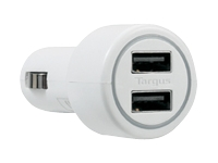 Targus Dual USB Car Charger For Media Tablets & Mobile Phones - adaptateur allume-cigare (voiture)