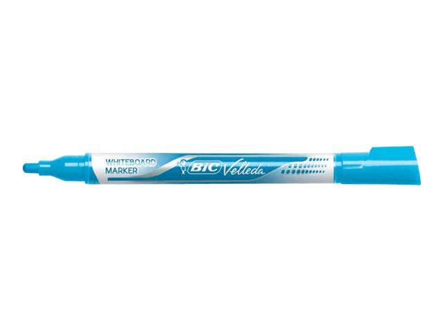 BIC VELLEDA - Marqueur - effaçable - pour tableau blanc - 2.2 mm - différentes couleurs disponibles