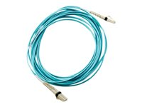 HPE - Network cable - LC multi-mode (M) to LC multi-mode (M) - 2 m - fiber optic - 50 / 125 micron - OM3 - for HPE 3600, 8/24, 8/8, SN6000; StoreFabric SN6500, SN6610, SN6620C 24, SN6650
