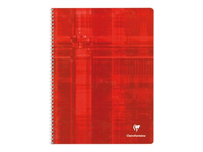 Clairefontaine - Cahier spiral - 24 x 32 cm - 100 pages - Grands carreaux