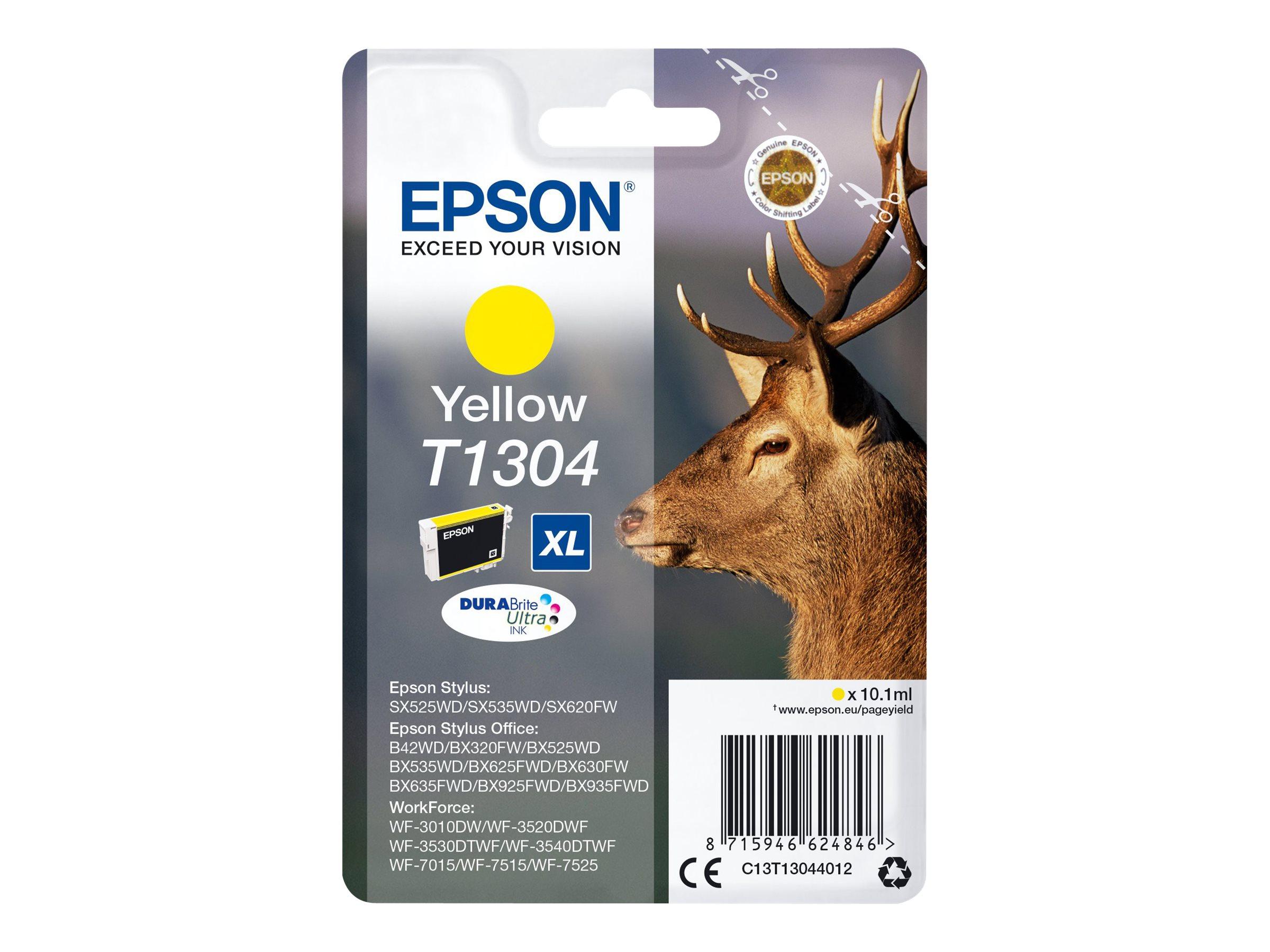 Epson T1304 - cerf - taille XL - jaune - originale - cartouche d'encre
