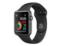 Apple Watch Series 1 38 mm rumgråt aluminium smart ur med sportsbånd