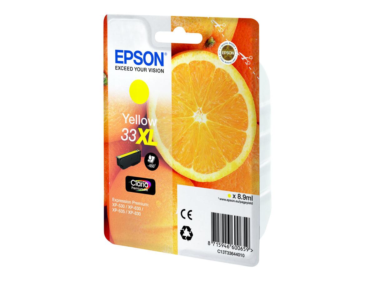 Epson 33XL - haute capacité - jaune - originale - cartouche d'encre