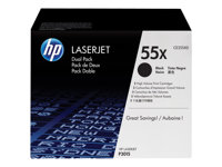 HP  55X Dual PackCE255XD