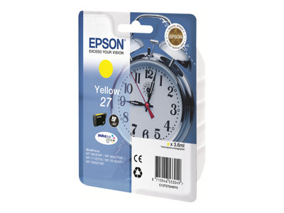 Epson 27 - 4 ml - žlutá - originál - blistr - inkoustová cartridge - pro WorkForce WF-3620DWF, WF-3640DTWF, WF-7110DTW, WF-7610DWF, WF-7620, WF-7620DTWF