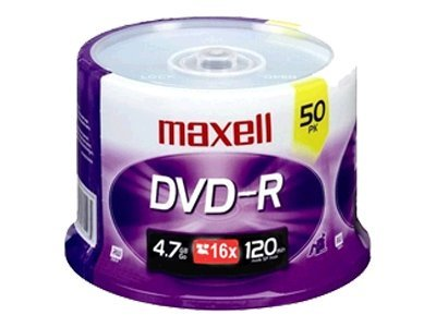 Maxell 50Pk Dvd-R 4.7Gb 16X Spindle