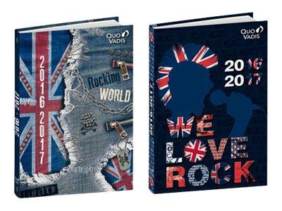 Quo Vadis Union Jack - Agenda - 2016 - 1 jour par page - 120 x 170 mm - disponible dans différentes couleurs
