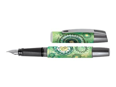 ONLINE YOUNG.LINE Campus Green Garden - Stylo plume - bleu