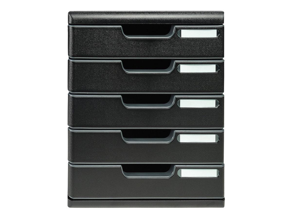Exacompta Ecoblack - Bloc de classement à tiroirs - 5 tiroirs - A4 Plus