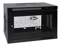 Tripp Lite SmartRack 9U Low-Profile Switch-Depth Wall-Mount Rack Enclosure Cabinet