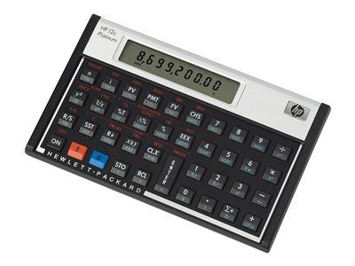 HP 12c Platinum - Financial calculator - battery - silver, carbonite