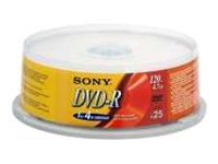Sony DMR-47 - DVD-R x 25 - 4.7 Go - support de stockage