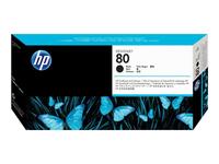 HP 80 - pack de 1 - 1 - noir - tête d'impression avec nettoyeur (C4820A)