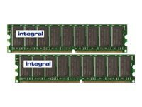 Integral 2GB DDR-400 ECC DIMM KIT (2 X 1GB), 2GB DDR-400 ECC DIM