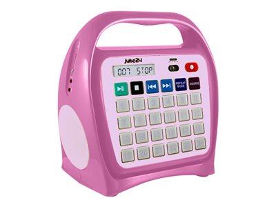 Ergoguys Juke24 - Portable karaoke - 4 GB - pink