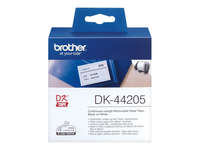 Brother DK44205 Removable adhesive hvid