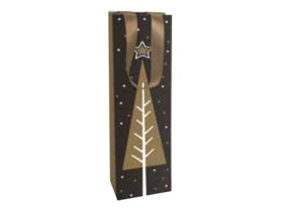 Clairefontaine Christmas - Sac cadeau - 10 cm x 10 cm x 40 cm - chic