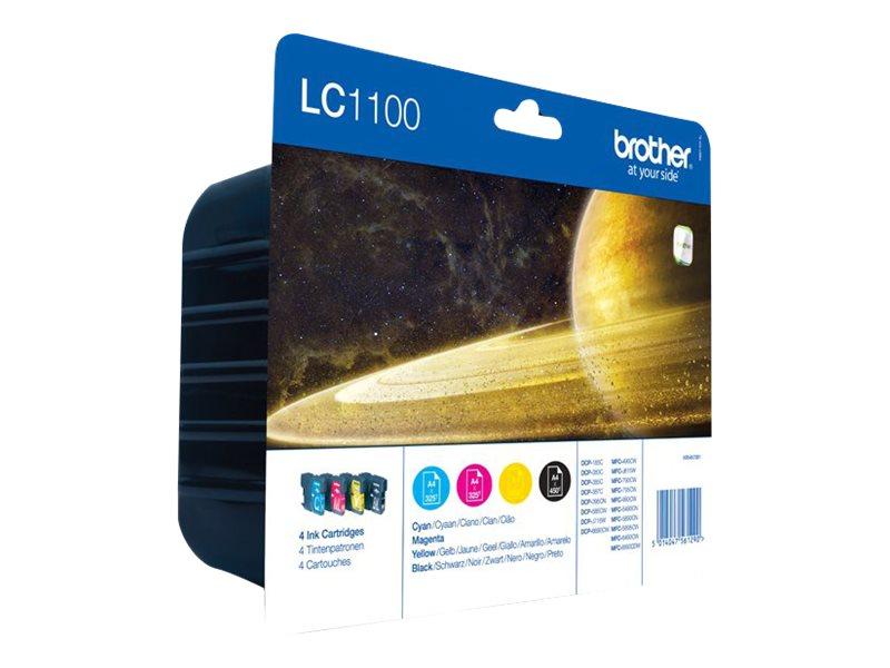 Brother LC1100 - Pack de 4 - noire, cyan, magenta, jaune - original - cartouche d'encre