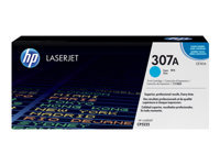 HP 307A - Cyan - original - LaserJet - toner cartridge (CE741A) - for Color LaserJet Professional CP5225, CP5225dn, CP5225n