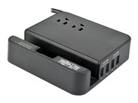 Tripp Lite 4-Port USB Charging Station Surge 2 Outlet Ipad Tablet Stand - Protector contra sobretensiones - 15 A