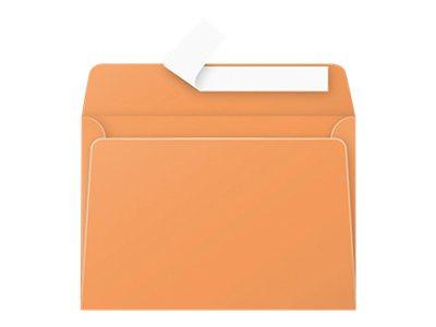 Pollen - Enveloppe - 114 x 162 mm - avec bande (auto-adhésif) - orange - pack de 20