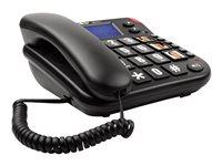 Intelbras Tok Fácil ID - Teléfono con cable con ID de llamadas - negro