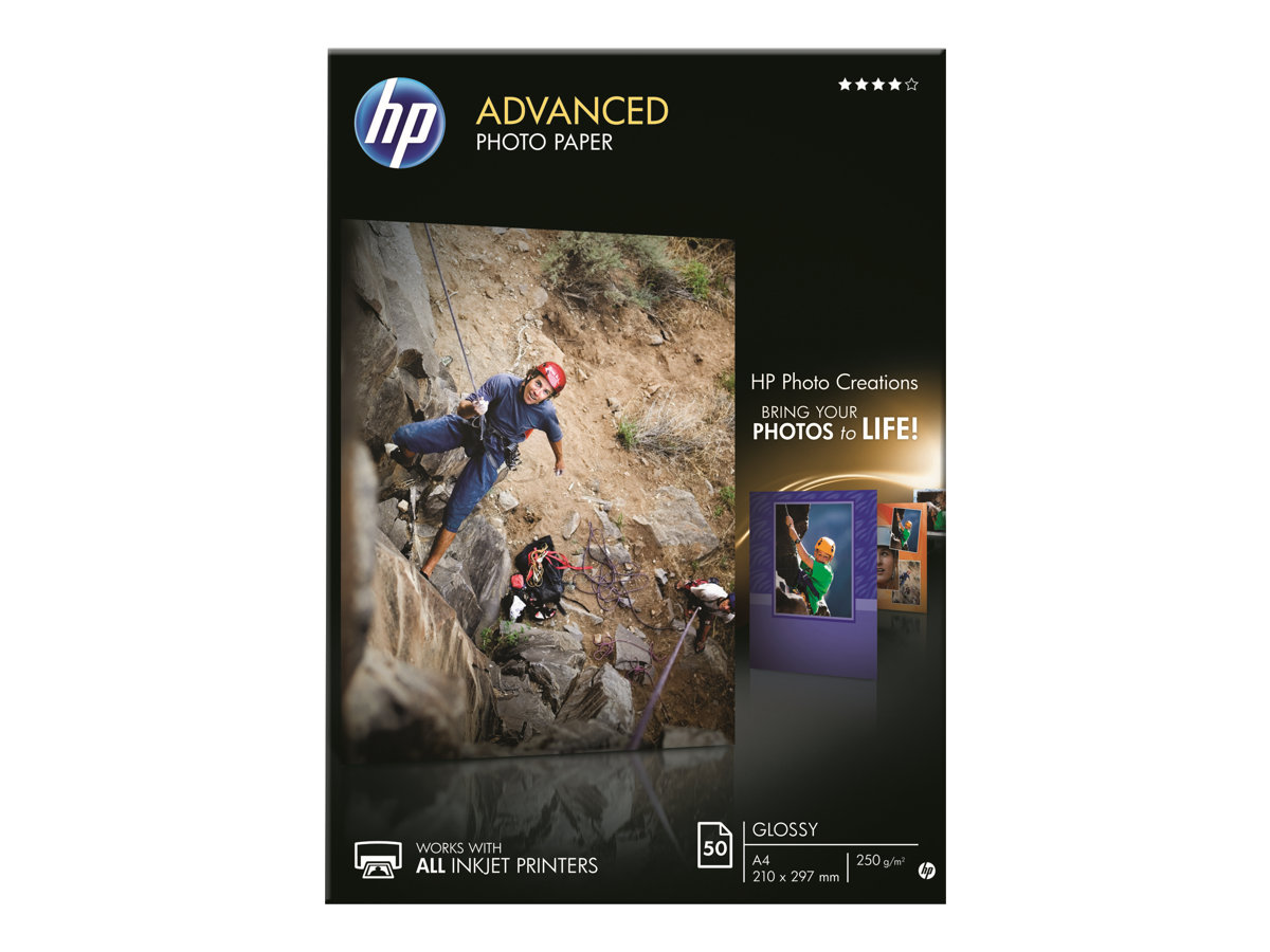 HP Advanced Glossy Photo Paper - papier photo brillant - 50 feuille(s)