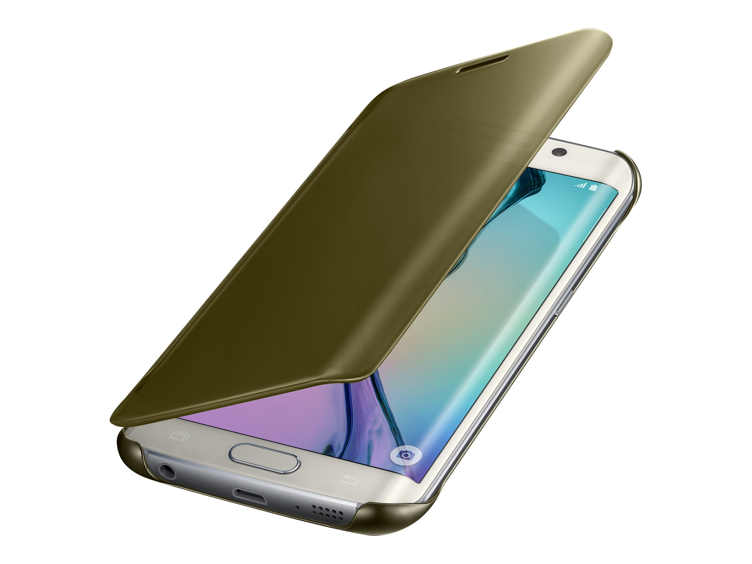 Samsung Clear View Cover EF-ZG925B - Protection à rabat pour Galaxy S6 edge - différents coloris
