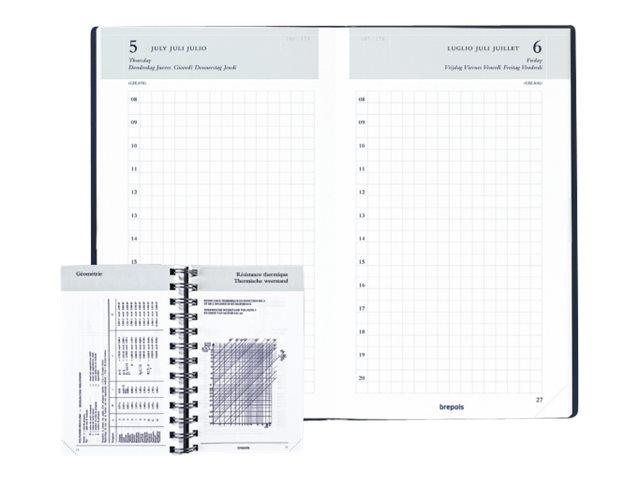 Brepols Popyprop Building Technique - Agenda - 1 jour par page - 100 x 165 mm - disponible dans différentes couleurs