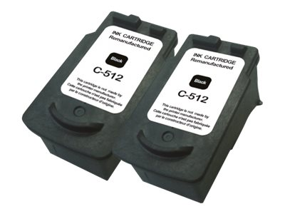 UPrint C-512B PACK - pack de 2 - noir - remanufacturé - cartouche d'encre (alternative for: Canon PG-512)