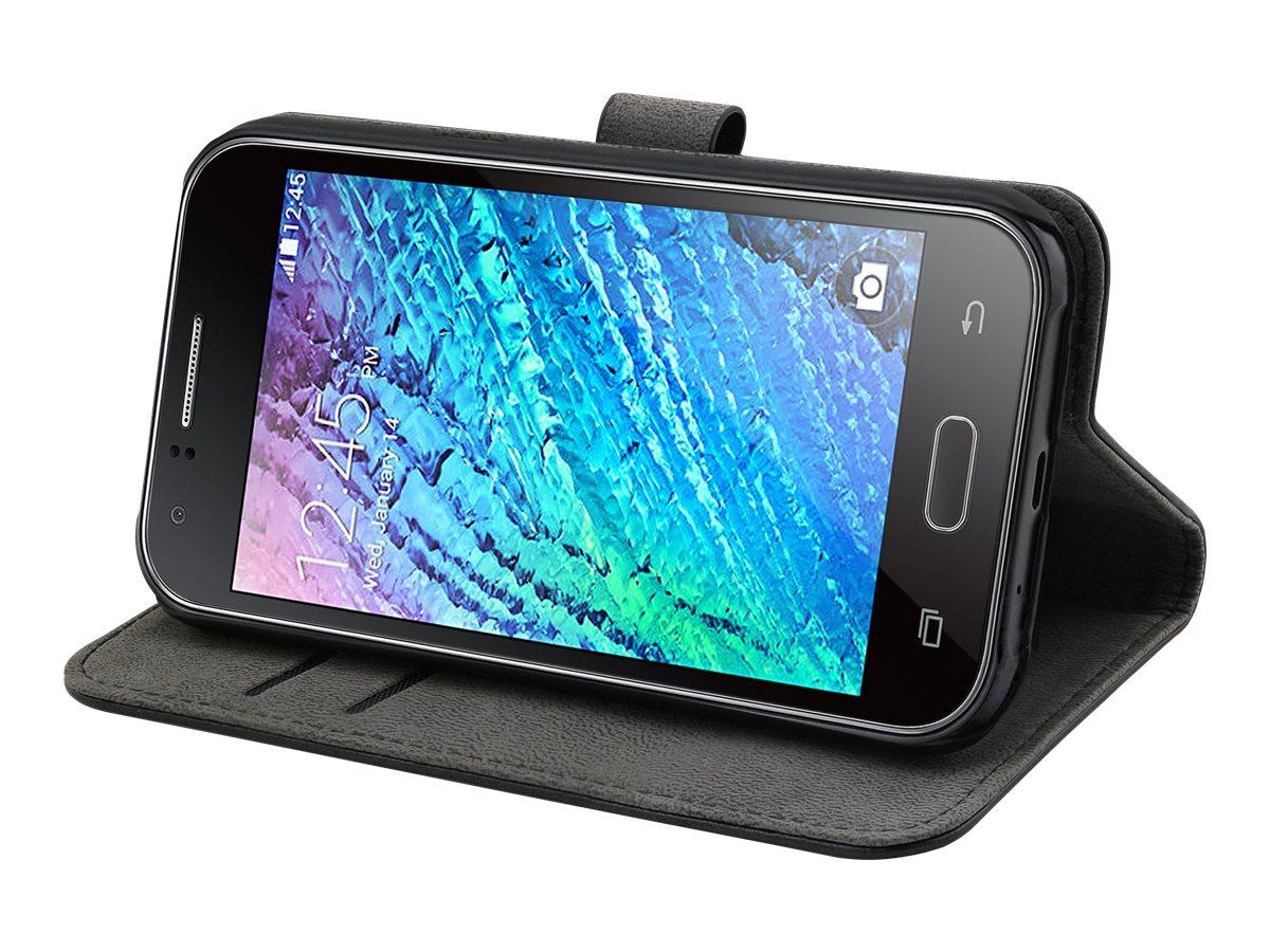 Muvit Slim S Folio - Protection à rabat pour Samsung Galaxy J1 - noir