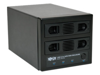 Tripp Lite USB 3.0 SuperSpeed 2 Bay Hot Swap SATA Hard Drive RAID Enclosure