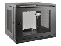 Tripp Lite SmartRack 9U Low-Profile Switch-Depth-Plus Wall-Mount Rack Enclosure Cabinet