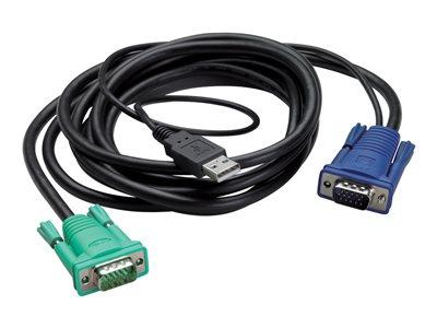 APC cable de teclado / vídeo / ratón (KVM) - 3.66 m