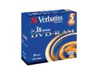 Verbatim DataLifePlus - DVD-RAM x 5 - 9.4 Go - support de stockage