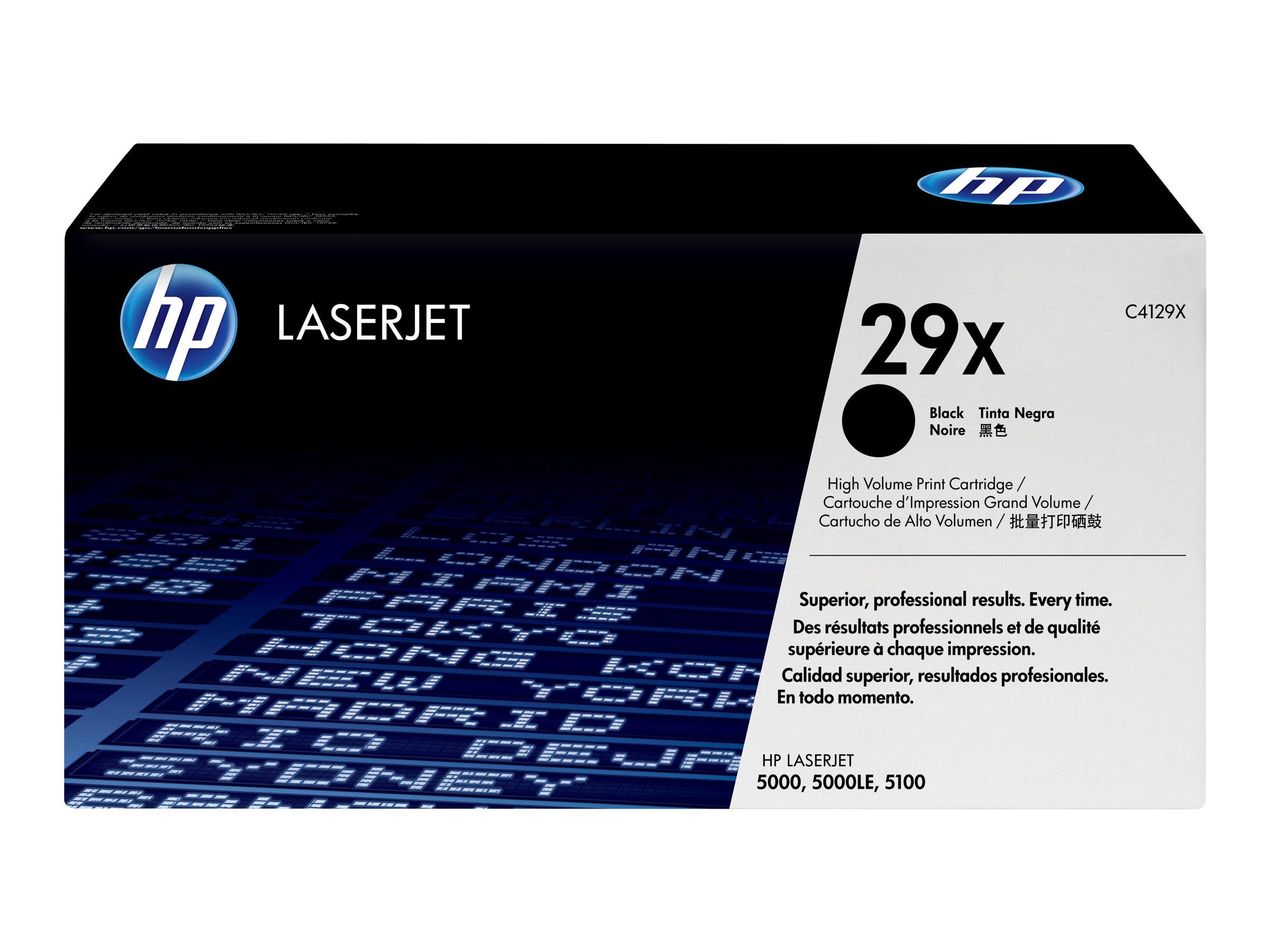 HP 29X - à rendement élevé - noir - originale - LaserJet - cartouche de toner (C4129X)