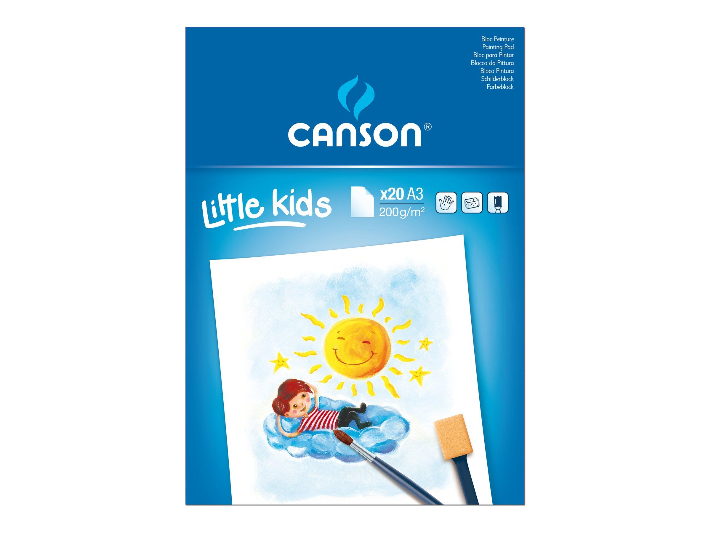 CANSON Little Kids - Bloc à dessins - A3 - 20 feuilles - blanc