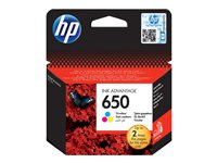 HP 650 Tri-colour Ink Cartridge EU Blist