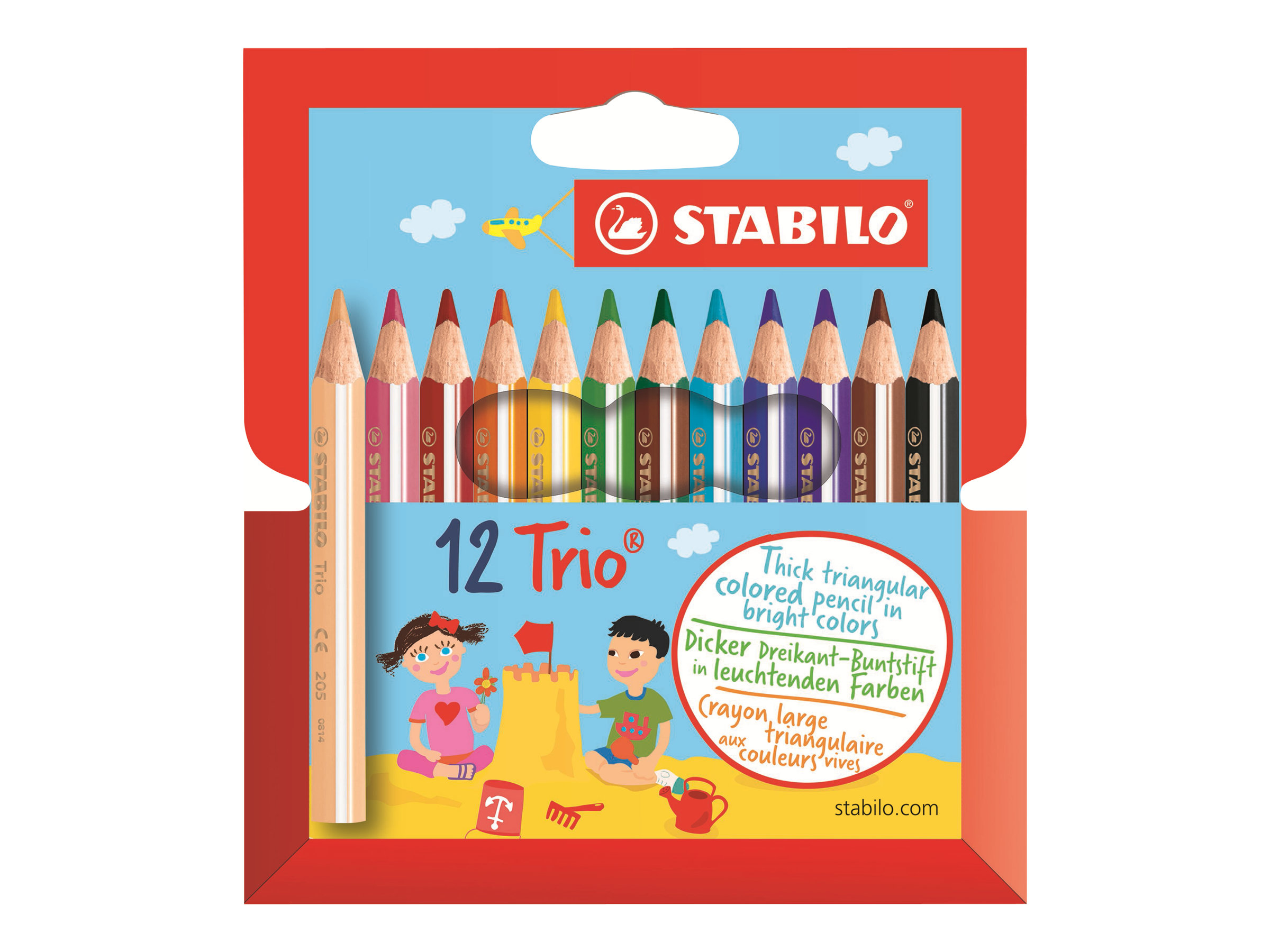 Stabilo Trio thick short - crayon de couleur