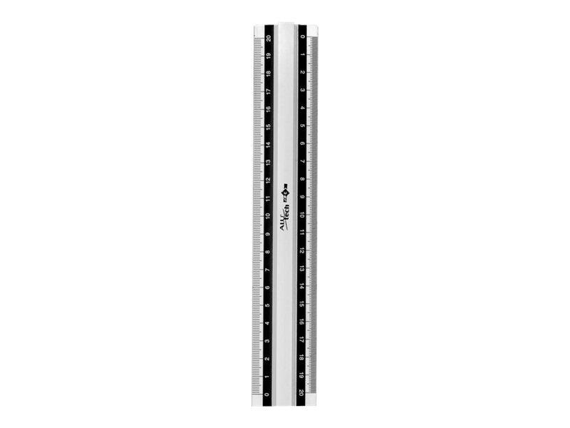 JPC ALU'TECH - Règle - 20 cm - blanc - aluminium
