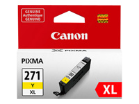 Canon CLI-271XL Y - Yellow - original - ink tank - for PIXMA MG5720, MG5721, MG5722, MG6821, MG6822, MG7720, TS5020, TS6020, TS8020, TS9020