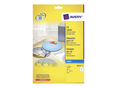Avery - etiquetas CD/DVD - 50 etiqueta(s)