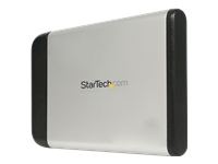 StarTech.com 2.5in Silver USB External Hard Drive Enclosure for SATA HDD