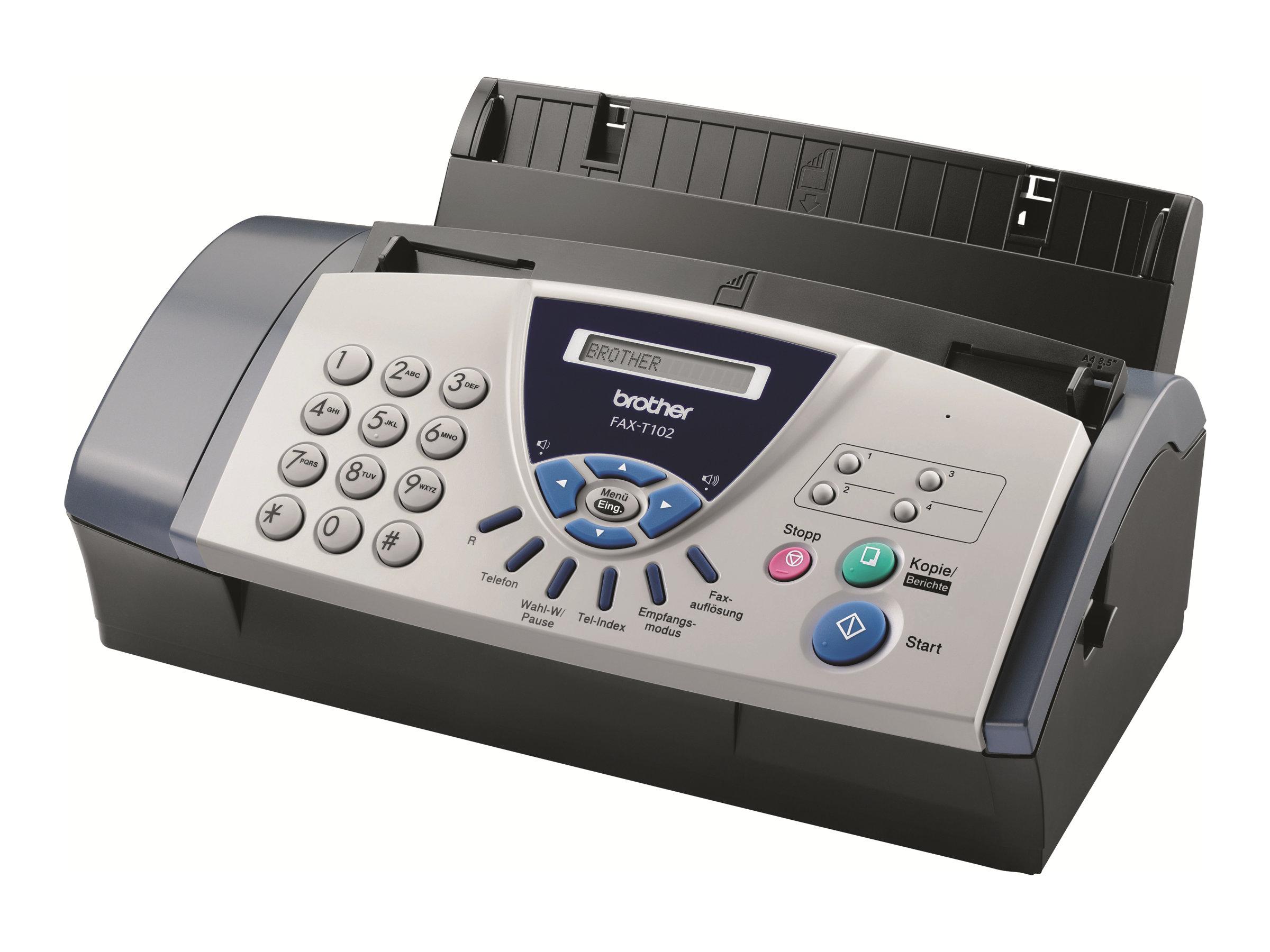 Brother FAX-T102 - télécopieur / photocopieuse (Noir et blanc)