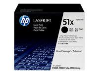 HP - LASERJET SUPPLY (5T) HP 51X Dual PackQ7551XD