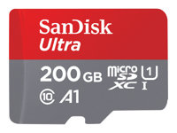 SanDisk MIcroSDXC 200gb w/adpt UHS-1 C10 A1 Android 100 mb/s